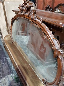 Sale 9097 - Lot 1070 - Victorian Carved Walnut Credenza Mirror Backs x 3