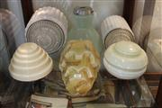 Sale 8327 - Lot 82 - Art Deco Light Fittings (6)