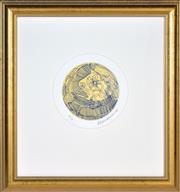 Sale 8394 - Lot 502 - Charles Blackman (1928 - ) - Face and Cat d. 15cm