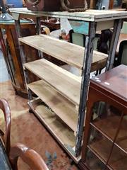 Sale 8740 - Lot 1022 - Industrial Five Tier Open Shelf on Castors