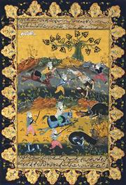Sale 8773A - Lot 5019 - Indo-Persian School - Hunting Scene 33 x 25.5cm