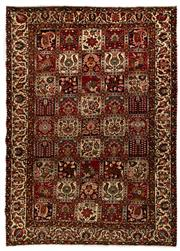 Sale 8780C - Lot 221 - A Persian Bakhtiyari And Classic Garden Design, 100% Wool On Cotton, Classed As Prerevolution Weave, 313 x 225cm