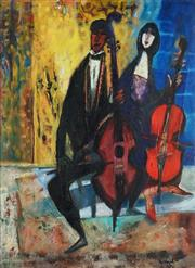 Sale 8813 - Lot 535 - Michael Kmit (1910 - 1981) - Two Musicians, 1963 39 x 29cm
