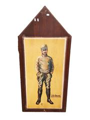 Sale 8809B - Lot 614 - Felix Brocard. Fighter Pilot Ace & Member of the Escadrille. Hand Painted Double Sided Wall Plaque. L.M 74 (126 x 57cm)