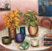Sale 8838A - Lot 5147 - Stanley Perl (1942 - ) - On the Table 76 x 76cm