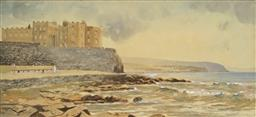 Sale 8960J - Lot 21 - Frank Hargy - OHaras Castle, Portstewart, Londonderry, Northern Island, 1933 17 x 36cm