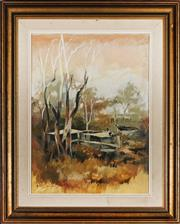 Sale 9053 - Lot 2065 - Helen Goldsmith (1937 - ) - Sawtell Near Coffs Harbour 48.5 x 36 cm (frame: 69 x 56 x 4 cm)