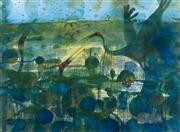 Sale 9042A - Lot 5034 - John Olsen (1928 - ) - Waterbirds, 1983 80.5 x 107 cm