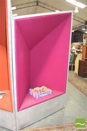 Sale 8310 - Lot 1013 - Large Metallic Framed Chair with Purple Velvet Upholstery