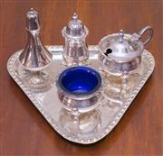 Sale 8346A - Lot 68 - A silver plated cruet set