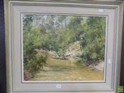 Sale 8557 - Lot 2048 - Kenneth Green, Howes Creek East Kurrajong, oil, SLR, 39x49.5cm