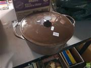 Sale 8582 - Lot 2461 - Cousances Metal Casserole Dish