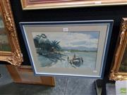 Sale 8613 - Lot 2031 - Brett Hilder Pacific Islands Scene watercolour, 26 x38cm, signed lower left