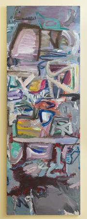 Sale 8677B - Lot 569 - Ronald Lambert, No.5 1984 - 1985 oil on canvas, 209 x 74cm