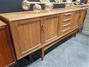 Sale 8782 - Lot 1007 - G Plan Fresco Teak Sideboard with 4 Doors and 4 Central Drawers