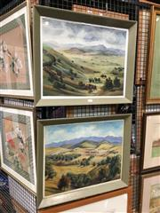 Sale 8726 - Lot 2079 - 2 Ed Sturz Watercolours: Golden Hills & McLeod Shoot, both signed