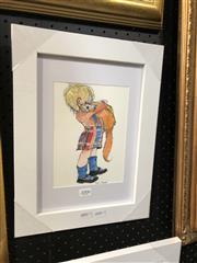 Sale 8779 - Lot 2006 - Greg Lipman - Wee Bairn, pen, ink and gouache, 15 x 20cm, signed