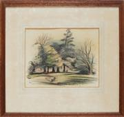Sale 8821 - Lot 505 - Kenneth Jack (1921 - 2006) - Park Scene, 1948 20.5 x 27cm