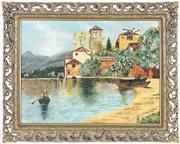 Sale 8901A - Lot 5072 - S. W. Silberman - Harbour Scene, 1958 55.5 x 76 cm