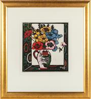 Sale 8871H - Lot 106 - MARGARET PRESTON (1875 - 1963) - Anemones & Chinese Vase 1925 38 x 36cm