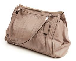 Sale 9091F - Lot 80 - A COACH PLEATED TWIN HANDLE HAND BAG;