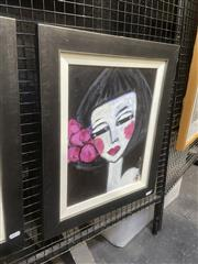 Sale 9091 - Lot 2029 - Leene Aavik The Spanish Girl, acrylic on canvas, frame: 54 x 44 cm, signed lower right, -