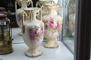 Sale 8346 - Lot 57 - Large English Mantle Vases Drilled for Lamp Bases