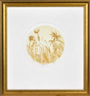 Sale 8394 - Lot 512 - Charles Blackman (1928 - ) - Tropical d. 23.5cm