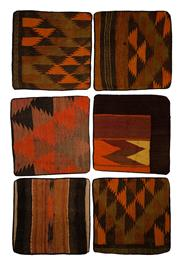 Sale 8455C - Lot 31 - 6 Tribal Afghan Cushion Covers, Made From Vintage Kilims