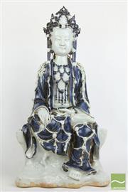 Sale 8490 - Lot 174 - Guanyin Ceramic Seated Buddha (H 48cm)