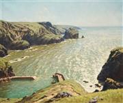 Sale 8565 - Lot 507 - Howard Barron (1900 - 1991) - Mullion Cove, Cornwall, 1971 63 x 75.5cm