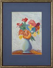Sale 8752 - Lot 2099 - Leslie Walton (1935-2013) - A Vase of Flowers 27 x 19cm