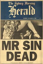 Sale 8822A - Lot 5077 - Sydney Morning Herald, Saturday September 16, 2006 - Mr Sin Dead 56.5 x 36.5cm