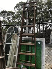 Sale 8859 - Lot 1075 - English Slingsby A Frame Ladder