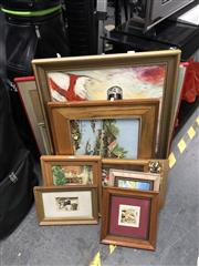 Sale 8853 - Lot 2087 - Large Group of Assorted Paintings -