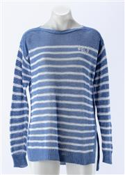 Sale 8910F - Lot 64 - A Polo Ralph Lauren blue and white striped knit jumper, size S