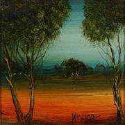 Sale 8929 - Lot 574 - Kevin Charles (Pro) Hart (1928 - 2006) - Landscape 18 x 18 cm