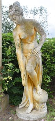 Sale 8950G - Lot 18 - A fine Italian composite stone statue  Signed Papinia 1.6m Height