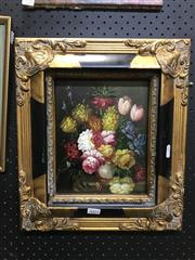 Sale 8981 - Lot 2023 - Artist Unknown - Still Life Flowers, oil on board, 24x19cm