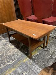 Sale 9002 - Lot 1015 - Danish Teak Coffee Table with Raised Lip (h:42 x w:91 x d:43cm)