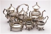 Sale 9060 - Lot 51 - A 6 Piece Silver Plate on Copper Tea Suite
