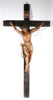 Sale 9090 - Lot 84 - A Large Composite Crucifix (some wear) L: 130cm