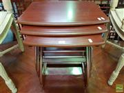 Sale 8480 - Lot 1066 - Timber Nest of Three Tables