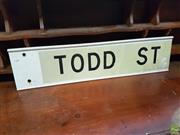 Sale 8601 - Lot 1384 - TODD ST Sign