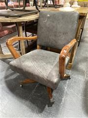 Sale 8896 - Lot 1053 - Vinyl Upholstered Captains Chair