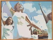 Sale 8924 - Lot 2001 - Mike Trovato Cheerleaders oil on canvas, 62 x 42cm, signed