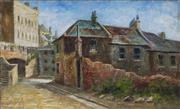 Sale 9038 - Lot 600 - Artist Unknown (Early C20th) - Old Town Quarters 20 x 32.5 cm (frame: 30 x 41 x 5cm)