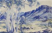 Sale 9084 - Lot 551 - Albert Namatjira (1902 - 1959) - Central Australian Landscape 34.5 x 53 cm (frame: 76 x 92 x 5 cm)