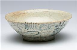 Sale 9093P - Lot 10 - Qing Blue and White Bowl Double Happiness Bowl (D: 14 cm)
