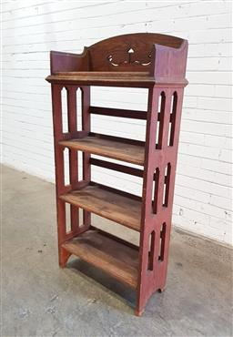 Sale 9137 - Lot 1023 - Oak open bookshelf (h:137 x w:66 x d:30cm)